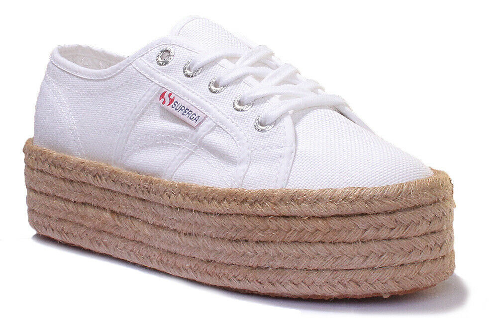 Superga 2790 Cotropew Femmes Toile Chaussures UK Taille 3 - 8