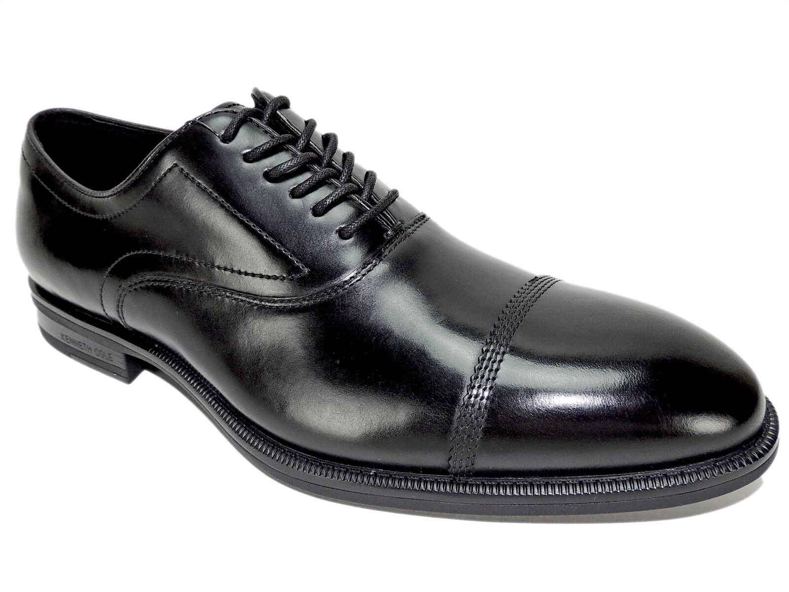 Kenneth Cole New York Men's Futurepod Lace-Up Oxfords Black Leather Size 8 M
