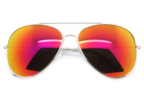 1Classic Aviator Retro Style Sunglasses Metal Frame Mirror Lens Women Fashion