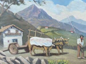 Peinture Pays Basque Ancien 64 Saint Jean de Luz XIXeme