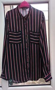 ae8e7579f45f44 New Look Striped Blouse Shirt Size 12 Navy Ladies BNWT | eBay