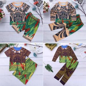 8cad55031c22 Kids Boys Pajamas Sleepwear Cartoon Costume T-shirt+Pants Nightwear ...