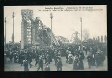 Exhibition Belgium EXPOSITION Brussels Pavillion Fire DISASTER damage 1910 PPC