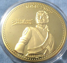 Michael Jackson Gold Coin Autographed MJ King of Pop Music Singer Legend Hero US