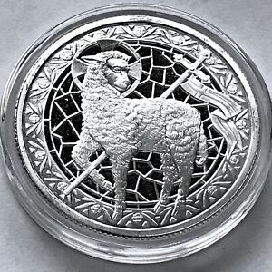 Lamb of God John 1:29 Jesus Christ Son of God Savior 1 oz 999 Fine Silver Round