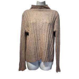 Madewell women's Size L Donegal Evercrest Coziest Yarn Turtleneck Sweater