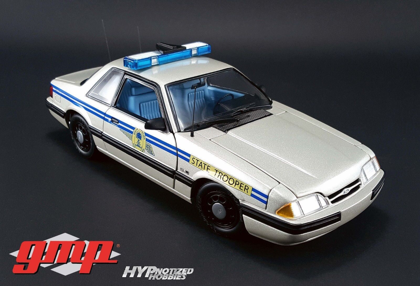 Gmp 1 18 1991 Ford Mustang Die-Cast argento 18844