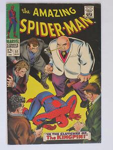 Amazing-Spider-Man-51-US-Marvel-1967-2nd-App-Kingpin-VG-FN
