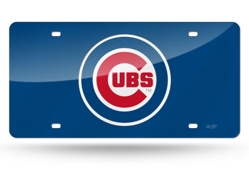 Chicago Cubs MLB Baseball Mirror License Plate Auto Tag Vanity Plate