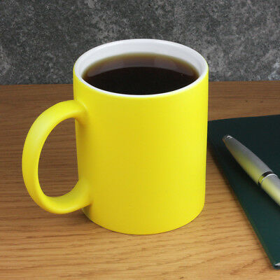 Set 4 Ceramic Tea Coffee Mugs Neon Bright Coloured Christmas Present Gift Boxed
