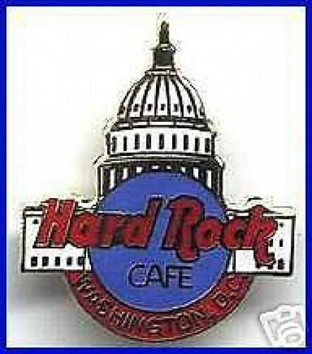 Hard Rock Cafe WASHINGTON DC 1990s Capitol Dome Building PIN w/Clasp Back #10399