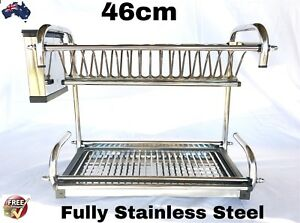 Dish-Rack-2-Tier-Stainless-Steel-Dish-Drainer-Rack