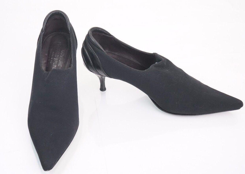 Donald Pliner Couture Leather shoes Pump Size 8 BOOTIE Crepe Elastic Stretch  340