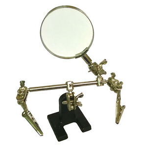 New-Magnifier-Magnifying-Glass-Clamp-3-Helping-Hands-Adjustable-Soldering-Stand