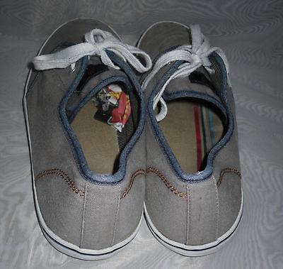 Zapatillas para hombre cordones arriba Textil Gris Talla: 6/39 (MT06)