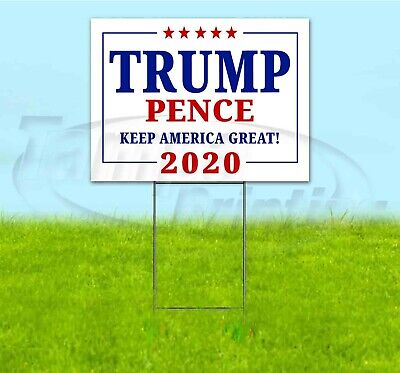 TRUMP PROMISES MADE PROMISES KEPT 18x24 Yard Sign WITH STAKE Corrugated Bandit
