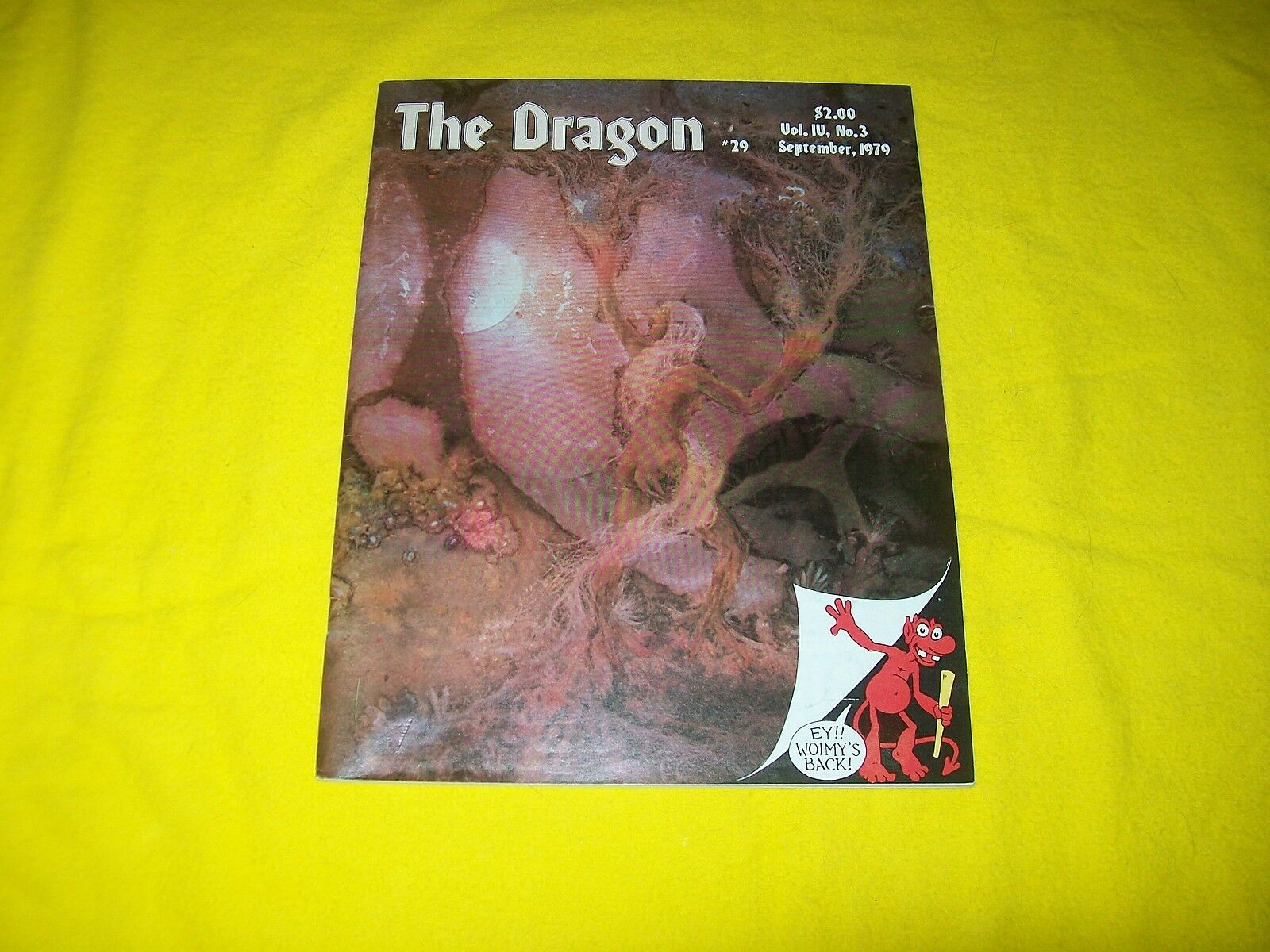 THE DRAGON MAGAZINE DUNGEONS & DRAGONS AD&D TSR - 1