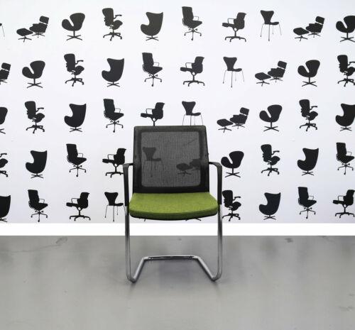 Refurbished Orangebox Workday Cantilever Meeting Chair Black//Green//Chrome