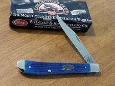 CASE XX New Caribbean Blue Jigged Bone Handle 1 Blade Slim Trapper Knife/Knives