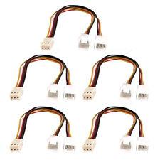 5 Pcs 3 Pin Female to Dual Male PC Fan Splitter Extension Cable 20cm
