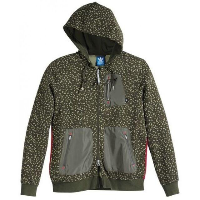 ~Adidas ADVENTURE CAMO SPOT AOP HOODIE Jacket Hooded Sweat Shirt Top~Mens sz 2XL