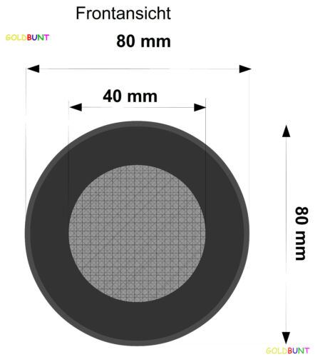 2 Ohrpolster 80 mm geeignet für Audio-Technica ATH-WS70 ATH-WS77 ATH-WS99