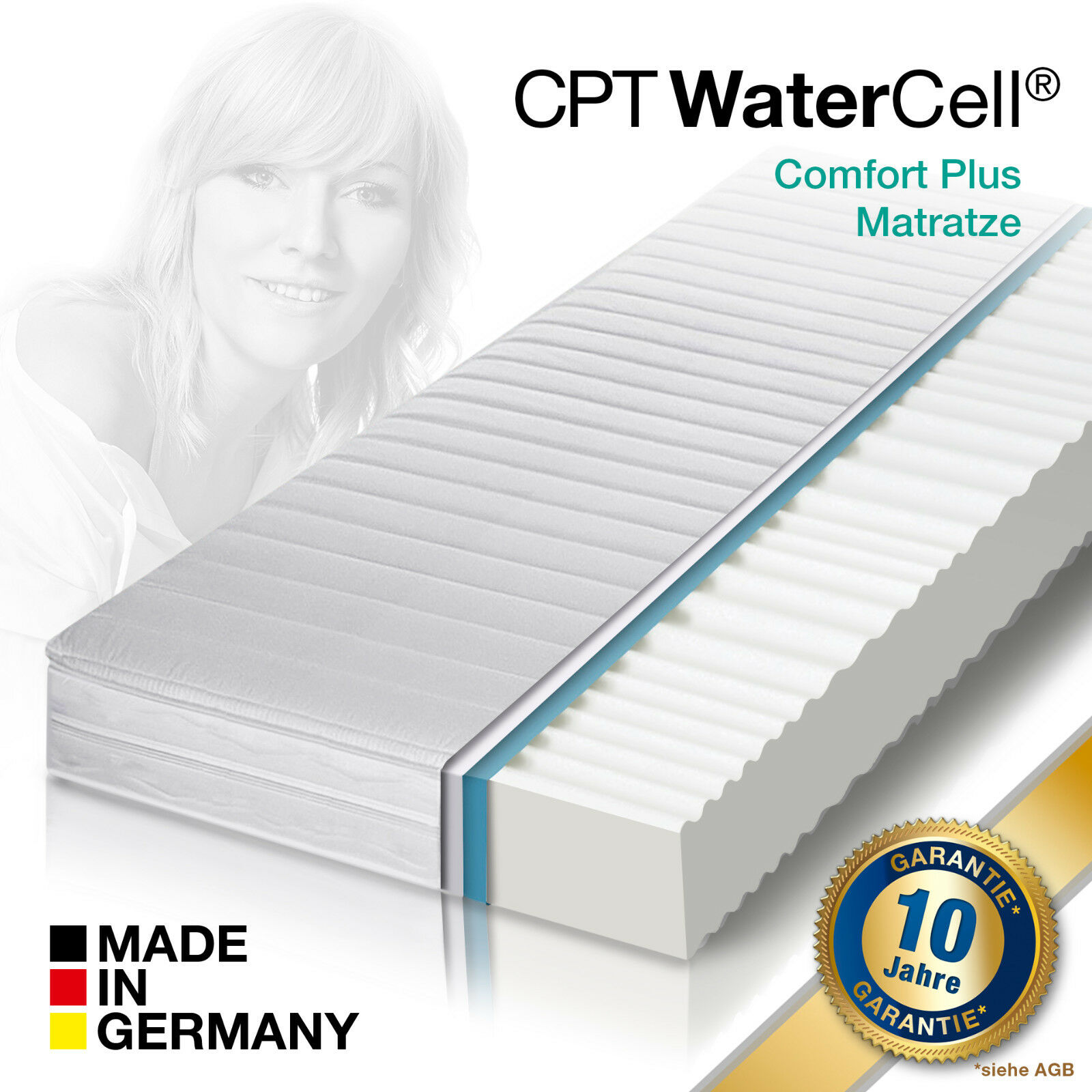 CPT WaterCell® Wellness Dream Comfort Plus Kaltschaum Matratze 180x200 H3