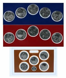 2019-S-P-D-National-Park-Quarters-Update-Set-Deep-Cameo-From-US-Mint