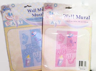 Baby Shower Wlll Murals It/'s a boy I/'ts a girl