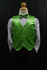 Baby Boys Toddler /& Big Kids ORANGE VEST 28 BOW TIE Set Suits /& Tuxedo Sz S