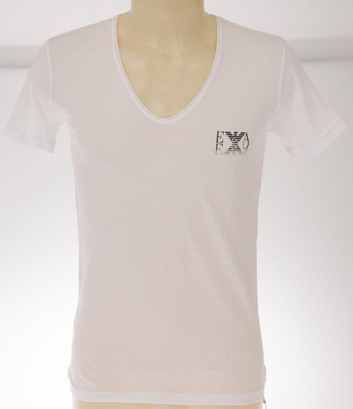 T-shirt maglietta V uomo EMPORIO ARMANI 211651 4P451 T.M c.00010 BIANCO