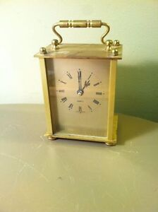 Superieur Image Is Loading Vintage Heirloom Quartz Brass Table Clock West Germany