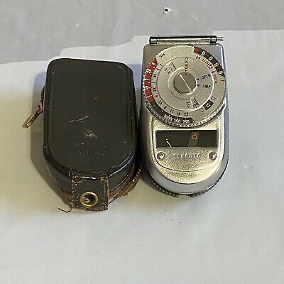 vintage sekonic auto leader model 38 light meter excellent condition with case ebay