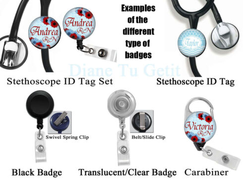 568 Optometry Optometrist Eye Glasses /& Chart Retractable ID Badge Reel Holder