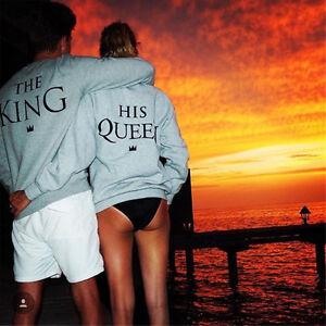 Chargement de l image en cours King-and-Reine-Couple-Pull-Homme-Femme-Sexy- 049861374a6e