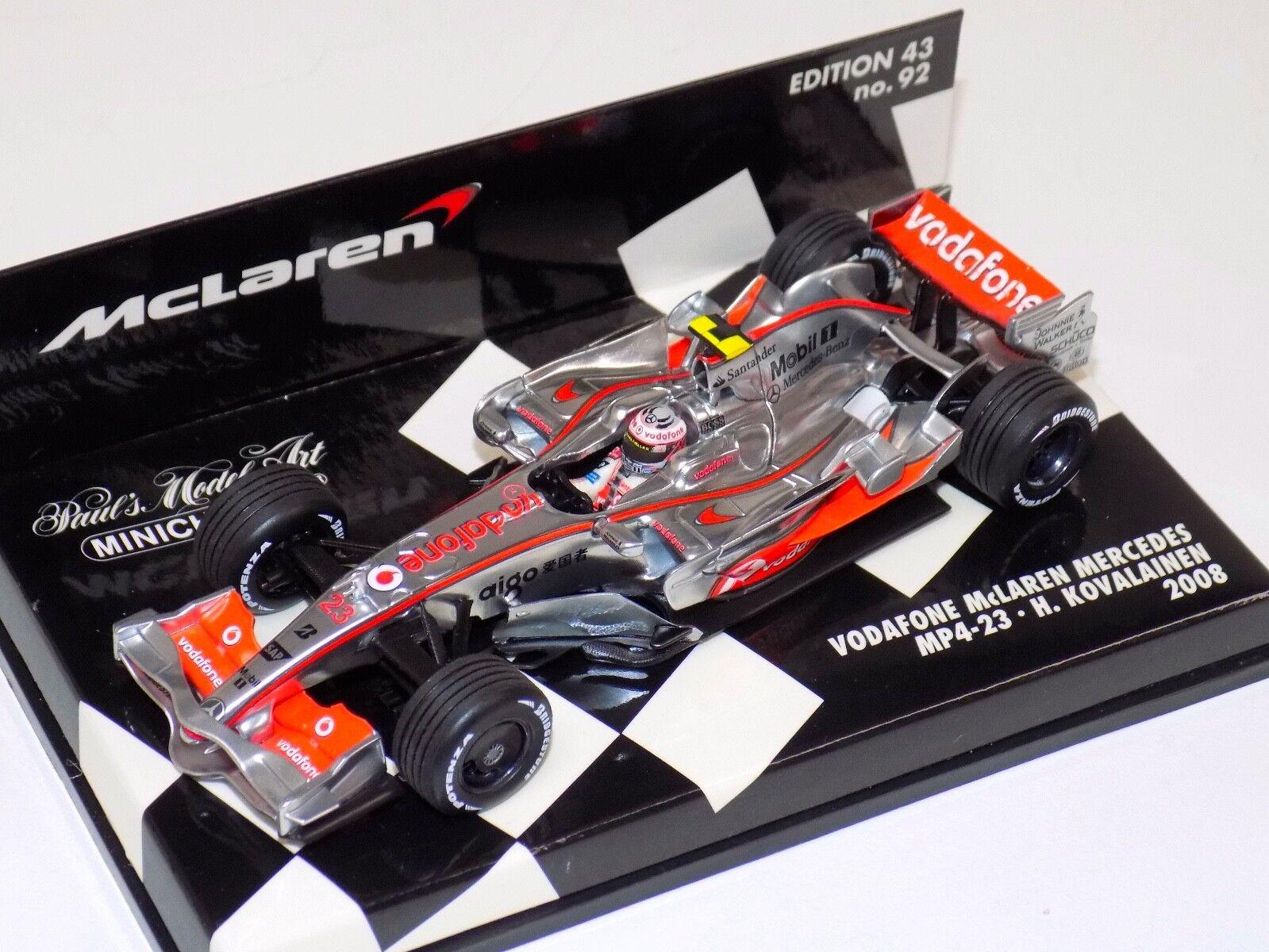 hasta 42% de descuento 1 43 Minichamps F1 Vodafone McLaren Mercedes 2008 2008 2008 MP 4-23 H. Jerez  Felices compras