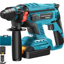 Vevor 18v Rotary Hammer Drill Brushless 58 Sds Plus 4 Functions With Battery