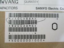 10cv68ax Capacitor 68uf 10v Smd Aluminum Electrlytic Lot Of 3