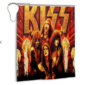 Home-Decor-New-Kiss-Band-Bathroom-Waterproof-Fabric-Shower-Curtain-60-x-72-Inch