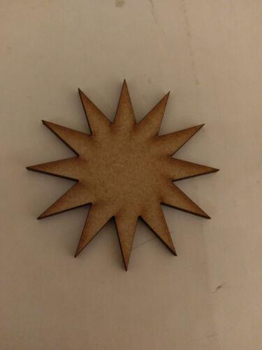 Madera Mdf 12 punto Star Craft tarjetas Decoraciones scrapmaking Colgante