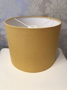 Lampshade-Handmade-In-a-Mustard-Coloured-Linen-Fabric-30-cm