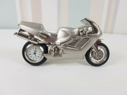 Widdop WM Motorbike Superbike Style Novelty Desktop Collectors Miniature Clock