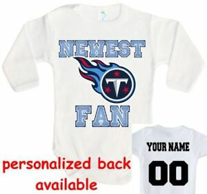 check out 66d47 4888c Details about Baby bodysuit Newest fan Tennessee Titans One Piece jersey  personalized