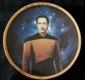 Star-Trek-plate-034-Lt-Commander-Data-034-mint-condition-in-original-box-6