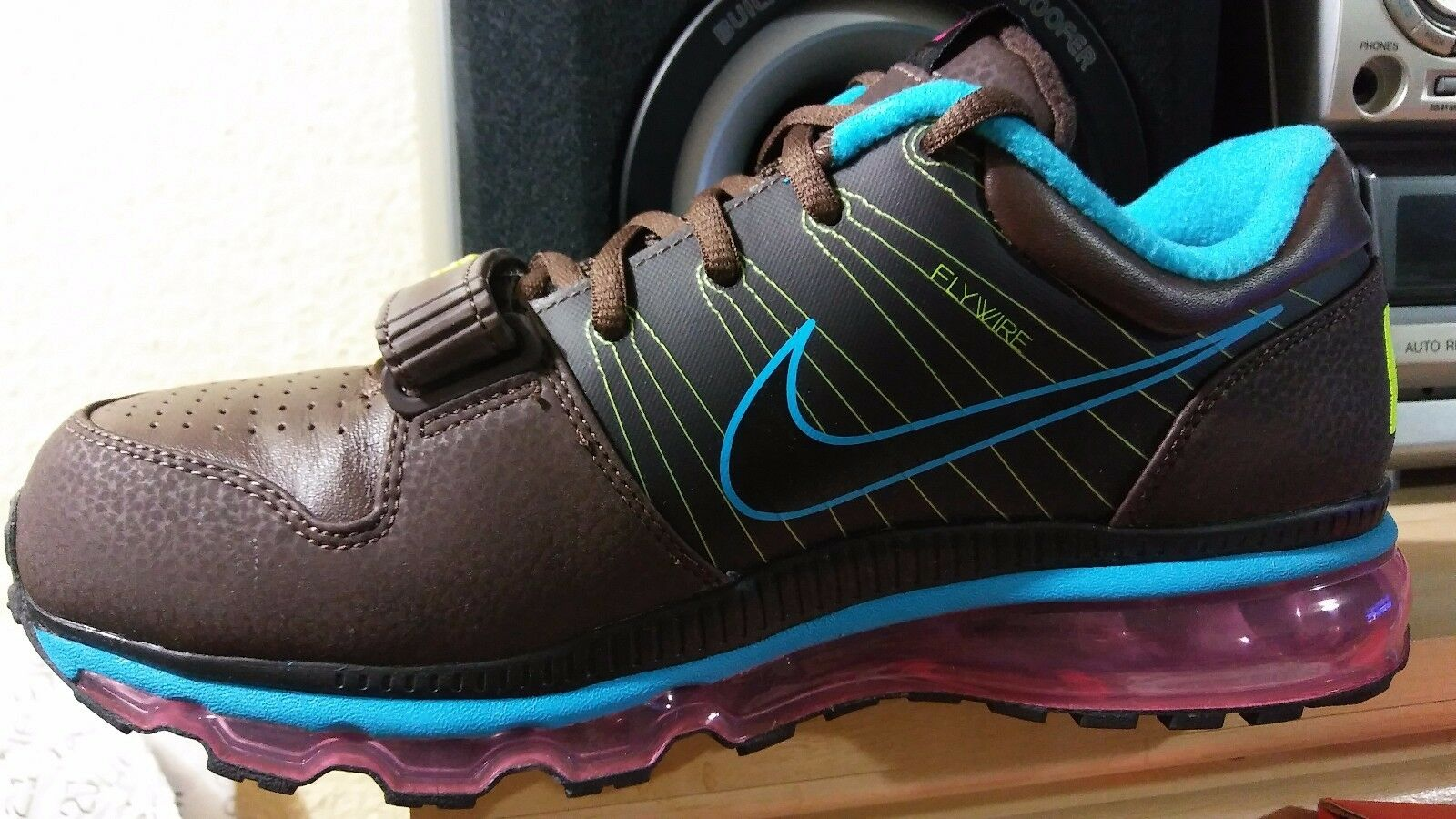 nike air mens max 360 aus niedrigen mens air sz 8,5 brown / blue-pink nwb cb8dbd