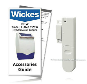 Image is loading Wickes-Alarms-Door-Window-Contact-Detector-710744-433MHz-