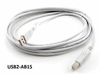 15ft Usb 2.0 A-type Male To B-type Male Printer/ Scanner/ Etc. Cable - Usb2-ab15