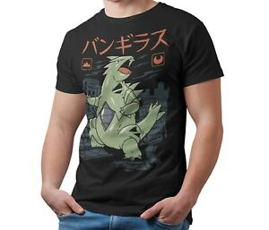 Pokemon-T-Shirt-Tyranitar-Kaiju-Japanese-Monster-Unofficial-Shirt-Adult-amp-Kids