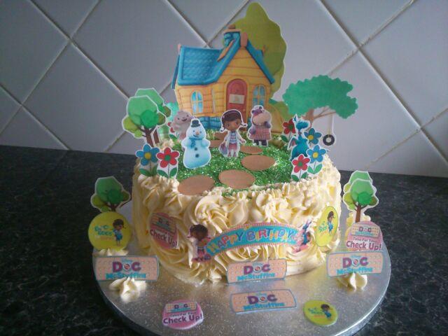 Doc McStuffins Scene Wafer Topper Edible Cake Decoration Set