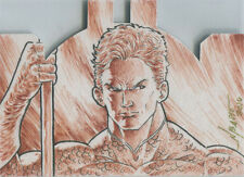 DC Comics Justice League Die Cut Sketch Card by Norvierto Basio of Aquaman